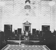Interior of Phoenix Hall, Queen Street, Masonic Hall, Sunderland